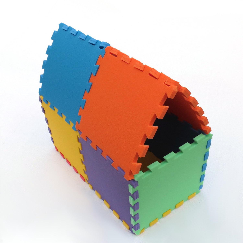 Zbuduj domek z puzzli piankowych