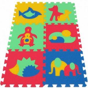 Mata / puzzle piankowe MAXI zwierzęta II