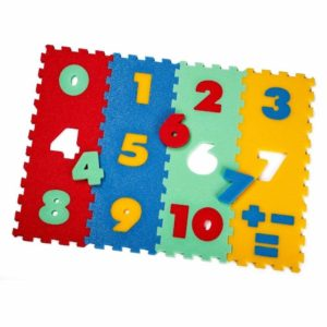 Puzzle piankowe / mata - 12 cyfr